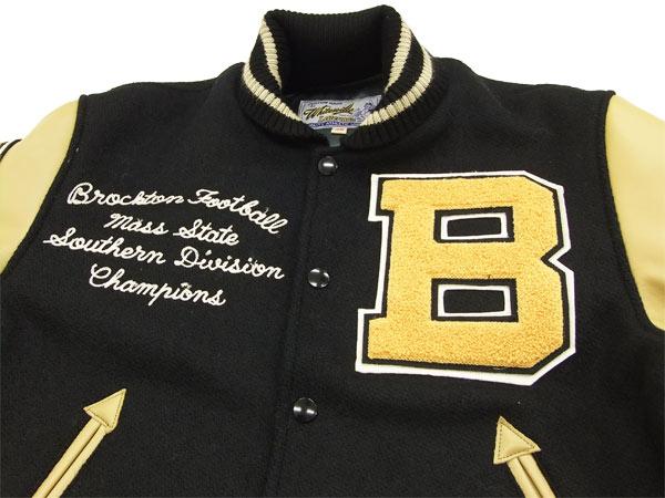 Letterman jacket black and gold