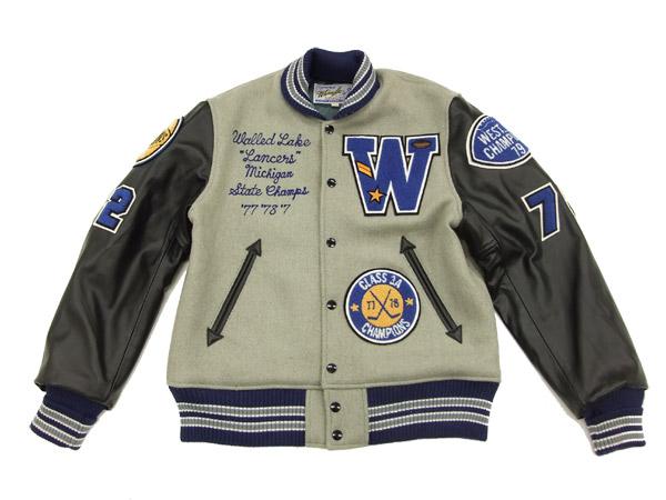 Whitesville Letterman Jacket WV13682 Men's Varsity Jacket Gray