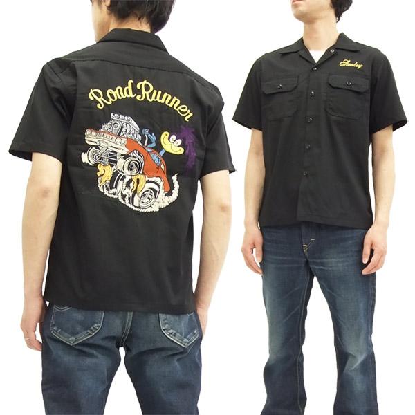 シュガーケーン ロードランナー ワークシャツ SC37641 Sugar Cane メンズ 半袖シャツ ブラック 新品