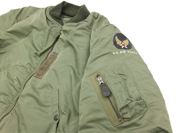 1d0d2561e83 Buzz Rickson Men s USAF MA-1 Flight Jacket MA1 Flying Bomber Jacket BR10981