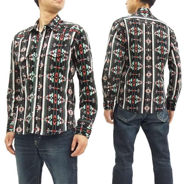 インディアンモーターサイクル チマヨネル ウエスタンシャツ IM27739 東洋 メンズ 長袖シャツ #119ブラック 新品