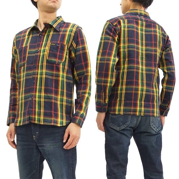 フェローズ チェック ネルシャツ 17W-720WS Pherrow's メンズ 長袖シャツ 送料無料激安祭 新品 レッド ワークシャツ 訳ありセール 格安 ネイビー