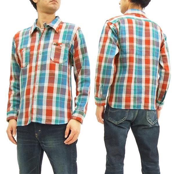 フェローズ チェック ネルシャツ 17W-720WS Pherrow's メンズ ワークシャツ 長袖シャツ レッド/サックス 新品