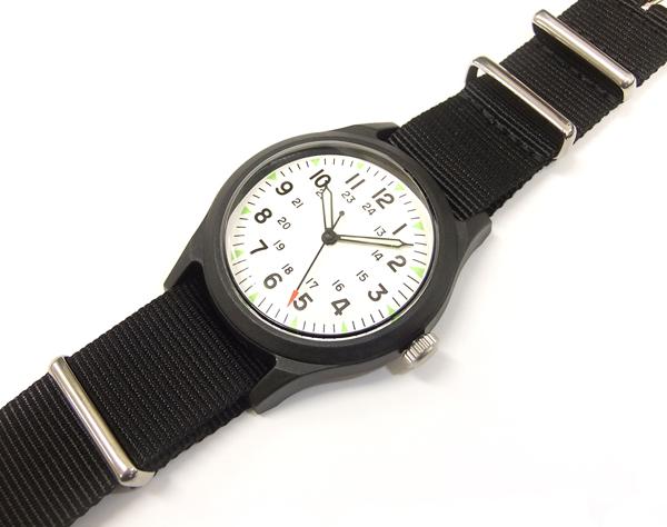 アルファ ベトナムウォッチ ALW-46374 ALPHA 腕時計 メンズ ミリタリーウォッチ ホワイト×ブラック 新品