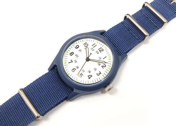 アルファ ベトナムウォッチ ALW-46374 ALPHA 腕時計 メンズ ミリタリーウォッチ ホワイト×RP.ブルー 新品