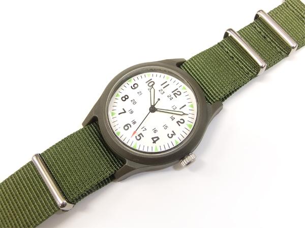 アルファ ベトナムウォッチ ALW-46374 ALPHA 腕時計 メンズ ミリタリーウォッチ ホワイト×V.グリーン 新品