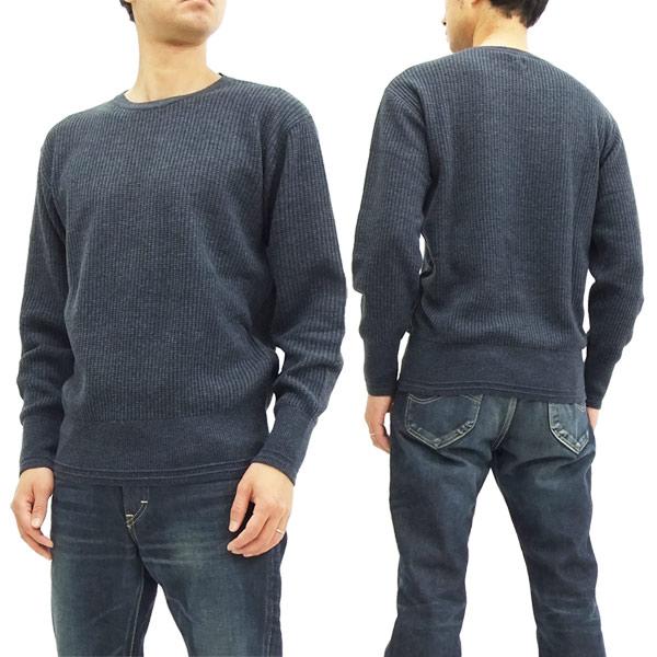 バーンズ アウトフィッターズ セーター BR-7348 メンズ 無地 ワッフル編みニット #29ネイビー 新品
