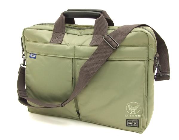 バズリクソンズ × ポーター BR02531 ナイロン 2-WAY ブリーフケース メンズ バッグ #148セージグリーン 新品