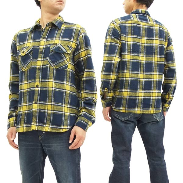 bd1ed9e6fdf Lee Flannel Shirt Check Work Shirt LT0596 Men's Plaid Long Sleeve Shirt