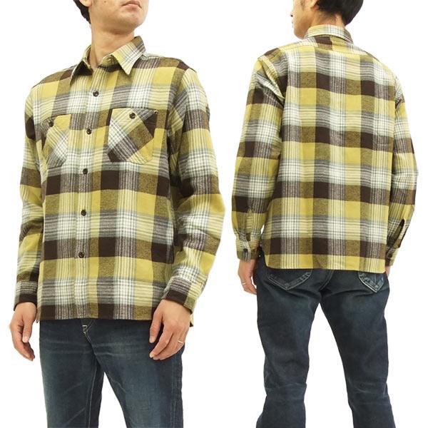シュガーケーン SC27705 ツイルチェック ワークシャツ メンズ 長袖シャツ #150クリーム 新品