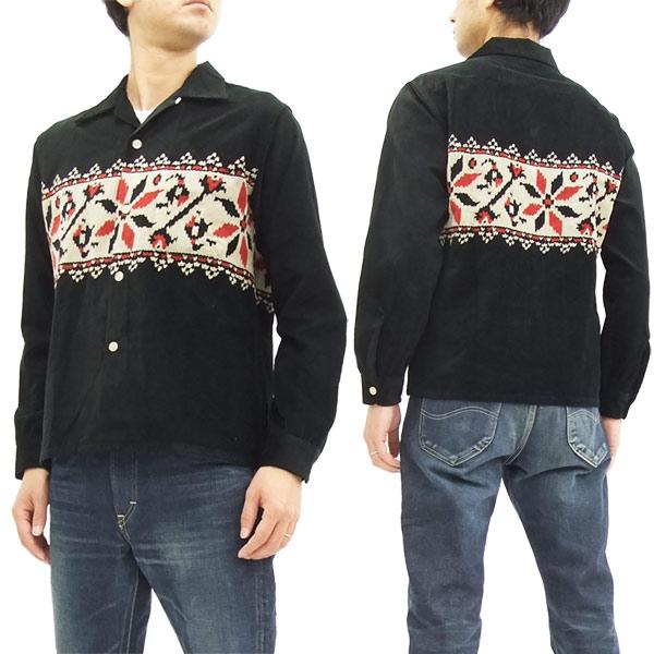 スタイルアイズ コーデュロイスポーツシャツ SE27722 東洋エンタープライズ メンズ 長袖シャツ #119ブラック 新品