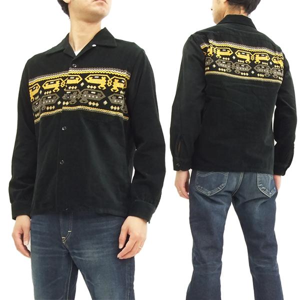 スタイルアイズ コーデュロイスポーツシャツ SE27723 東洋エンタープライズ メンズ 長袖シャツ #119ブラック 新品