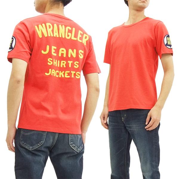 4b417229 Wrangler Blue Bell Men's Embroidered T-Shirt WT5018 11MJ Champion Jacket  Style