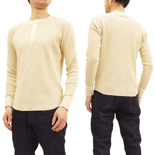82a85ffac9d Barns Men s Waffle-Knit Thermal Long Sleeve Solid Henley T-Shirt BR-7407  Ivory