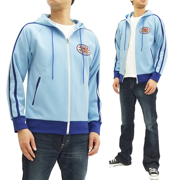 サムライジーンズ ジャージ パーカー SCJS17-101 サムライ倶楽部 メンズ トラックジャケット ブルー 新品