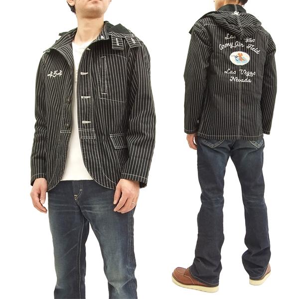 フェローズ 18S-PNPJ1-WD-CUSTOM パーカージャケット Pherrow's メンズ U.S.NAVY ガンナーズ ブラックウォバッシュ 新品