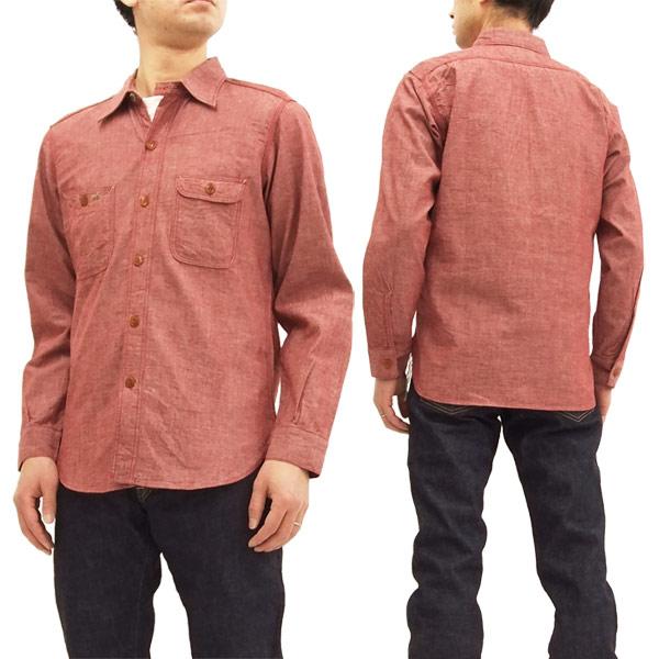ミスターフリーダム SC27841 シャンブレーワークシャツ NIXON Shirt シュガーケーン メンズ 長袖シャツ 461レッド 新品