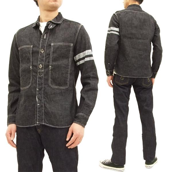 桃太郎ジーンズ SJ191 出陣ジェイルポケットシャツ メンズ デニム 長袖シャツ 新品
