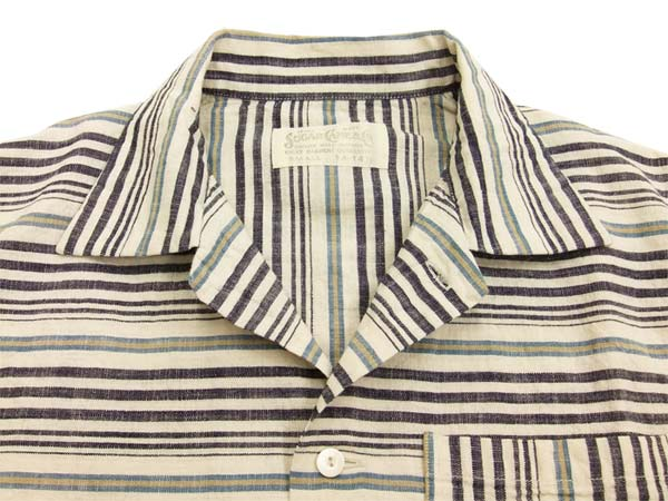 dfed9e65 Product description: Sugar Cane Men's 50s Style Horizontal Striped Sport  Shirt Short Sleeve Shirt SC37937