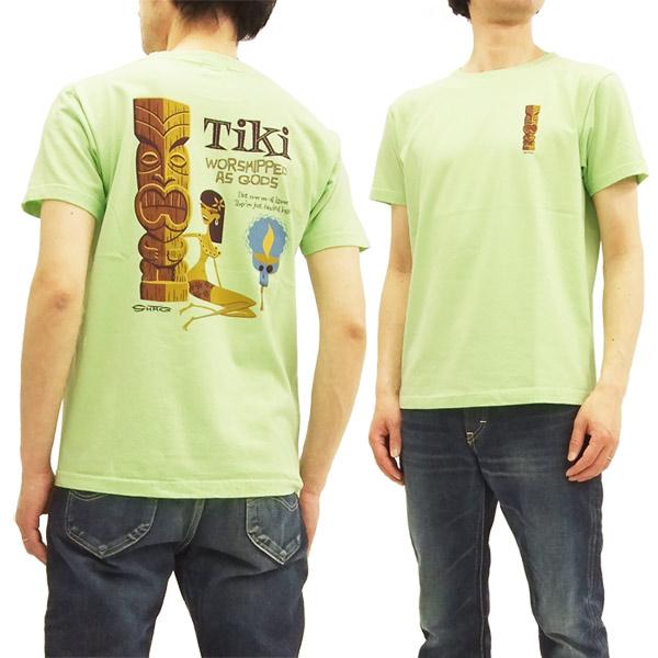 サンサーフ x シャグ SS78032 Tシャツ TIKI by SHAG x 東洋 Sun Surf メンズ 半袖Tee グリーン 新品