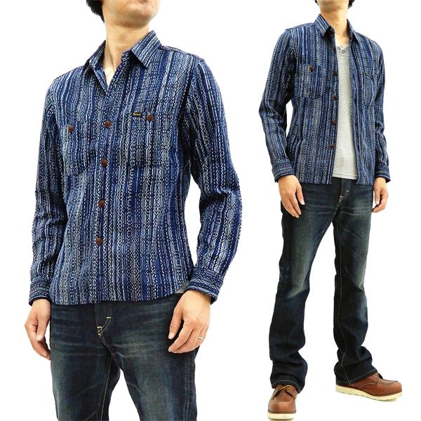 ステュディオ・ダルチザン 5606 カセ染め刺し子シャツ Studio D'artisan メンズ 長袖シャツ A色 新品