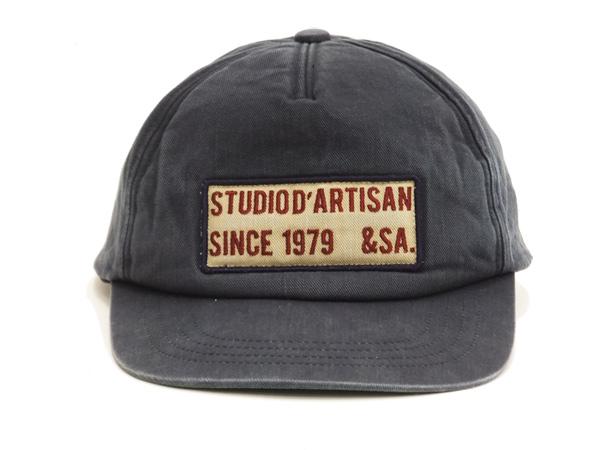 9097ad8a4fe Studio D artisan Men s Baseball Cap Low Crown Large brim Patched Hat 7455
