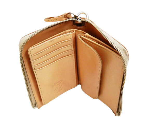 927fa42034ec Tedman Men's Casual Zip Around Leather Short Wallet Made in Japan TDW-260  Natural