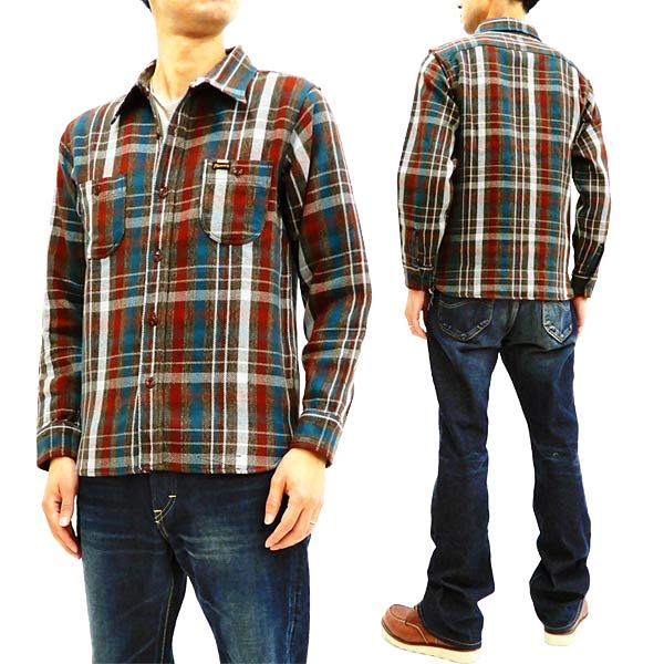 フェローズ 18W-720WS チェック ネルシャツ Pherrow's Pherrows メンズ ワークシャツ 長袖シャツ ブラウン 新品