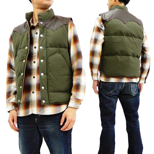 シュガーケーン SC12340 レザーヨーク ダウンベスト 東洋エンタープライズ Sugar Cane メンズ 冬用Vest オリーブ 新品