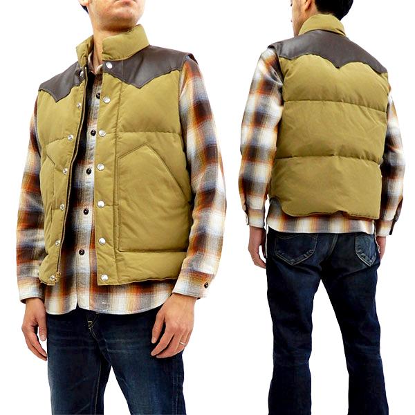 シュガーケーン SC12340 レザーヨーク ダウンベスト 東洋エンタープライズ Sugar Cane メンズ 冬用Vest ベージュ 新品