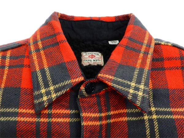 11c8089bcd1 Product description  Sugar Cane Men s Sherpa Lined Shirt Jacket Twill Check  Plaid Long Sleeve SC14282