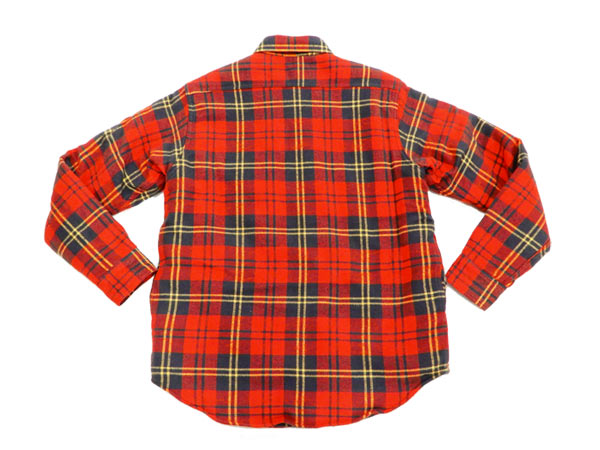 442ddc3585e Sugar Cane Men s Sherpa Lined Shirt Jacket Twill Check Plaid Long Sleeve  SC14282 Red