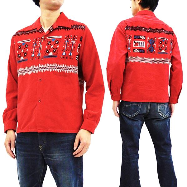 スタイルアイズ SE27989 コーデュロイスポーツシャツ 東洋エンタープライズ メンズ 長袖シャツ レッド 新品
