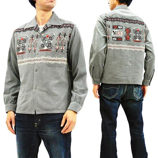 スタイルアイズ SE27989 コーデュロイスポーツシャツ 東洋エンタープライズ メンズ 長袖シャツ グレー 新品