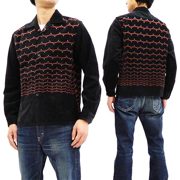 スタイルアイズ SE27990 コーデュロイスポーツシャツ 東洋エンタープライズ メンズ 長袖シャツ ブラック 新品