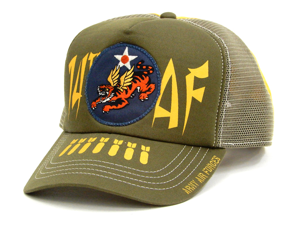 793eb95ff83 TOYS McCOY Men s Military Mesh Cap Flying Tigers Patched Mesh Side Hat  TMA1825
