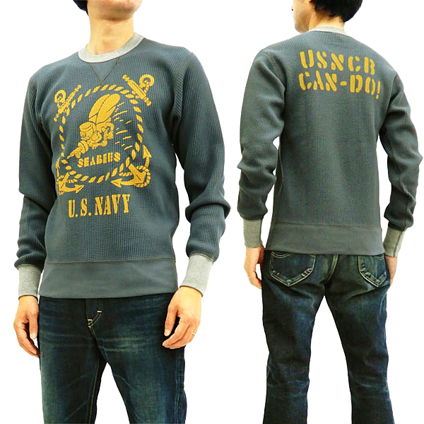 14ad96ea TOYS McCOY Men's Waffle-Knit Long Sleeve Thermal T-Shirt Seabee Tee TMC1856  Faded ...