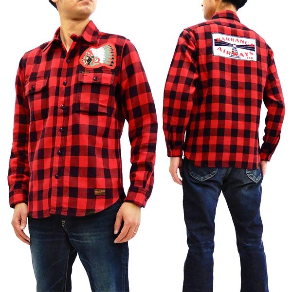 トイズマッコイ TMS1809 バッファローチェックシャツ TOYS McCOY Barranca Airways メンズ 長袖シャツ 新品