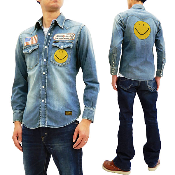 06be0e0be2f TOYS McCOY Men s Long Sleeve Denim Western Snap Up Shirt with Smiley TMS1811