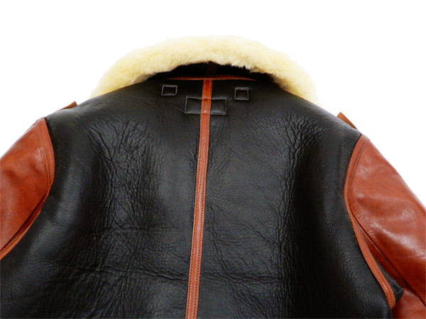0ec5b6f82 Buzz Rickson BR80489 Men's Sheepskin B-3 Bomber Jacket Reproduction Rough  Wear