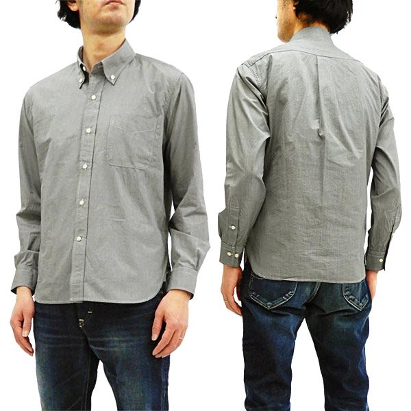 シュガーケーン SC28168 千鳥格子 ボタンダウンシャツ Sugar Cane メンズ 薄手 長袖シャツ #119ブラック 新品
