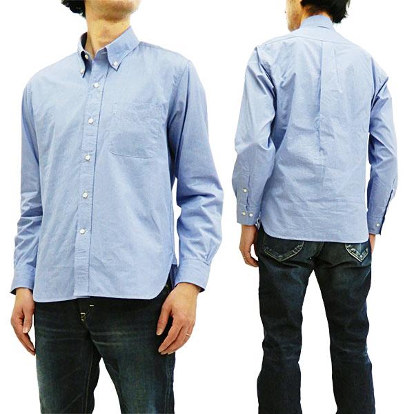 シュガーケーン SC28168 千鳥格子 ボタンダウンシャツ Sugar Cane メンズ 薄手 長袖シャツ #125ブルー 新品