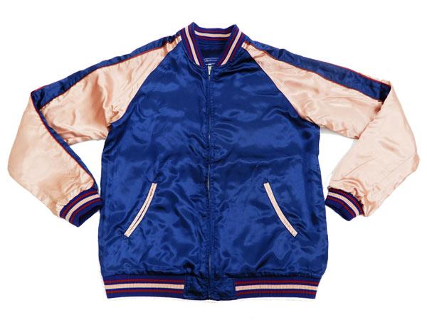 ジャパネスク スカジャン 3RSJ-044 出目金 金魚 刺繍 メンズ 和柄 スーベニアジャケット ネイビー 新品