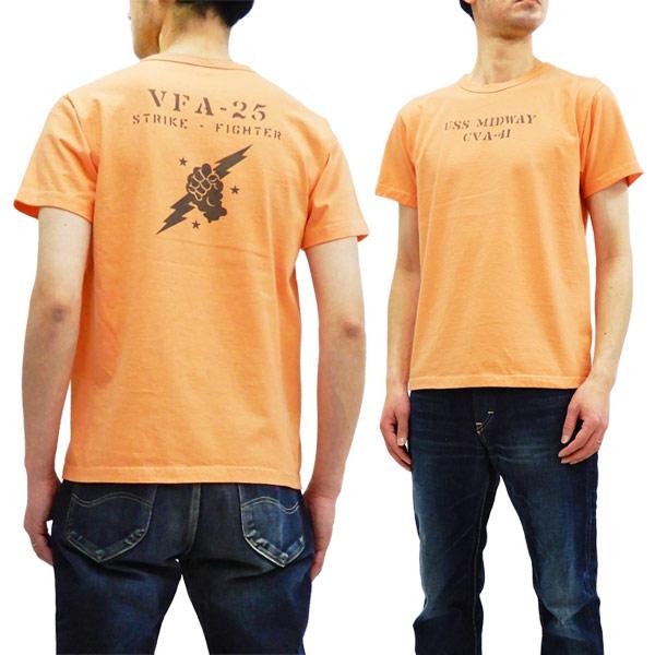 バズリクソンズ Tシャツ BR78290 VFA-25 Buzz Rickson 東洋 メンズ 半袖tee オレンジ 新品