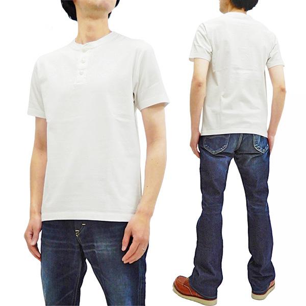 807c6fecc1 Barns Outfitters Plain Henley T-Shirt Mens Short Sleeve Loop-wheeled Tee  BR-8146 Off-White