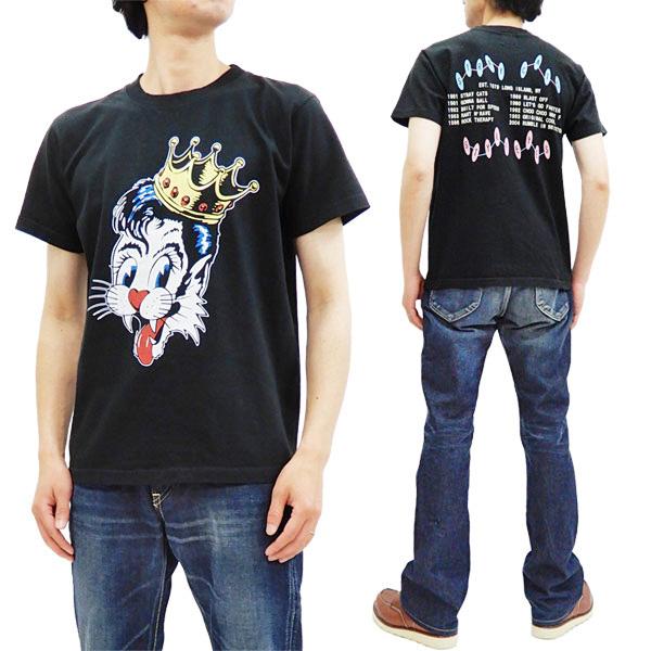 ストレイ・キャッツ Tシャツ SE78299 Stray Cats x Style Eyes 東洋 メンズ 半袖tee ブラック 新品