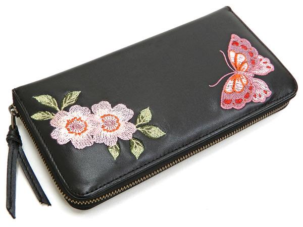 d57c65b9d6 Script Hanatabi Gakudan Men's Casual Embroidered Leather Long Wallet  SLWL-503 Black
