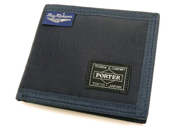 バズリクソンズ 財布 BR02614 Buzz Rickson x ポーター メンズ ナイロン ウォレット ネイビー 新品