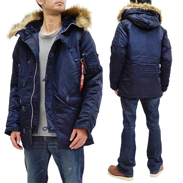 アルファ N-3B フライトジャケット 20094 ALPHA メンズ N3B ミリタリー コート 防寒中綿入り 467RPブルー 新品