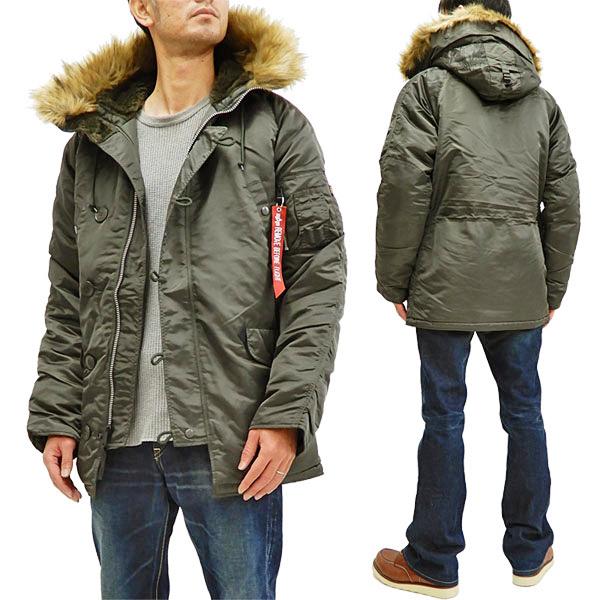 アルファ N-3B フライトジャケット 20094 ALPHA メンズ N3B ミリタリー コート 防寒中綿入り 476RPグレー 新品